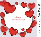 valentine's day abstract... | Shutterstock .eps vector #564536632