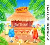 beach bar   Shutterstock .eps vector #564554956