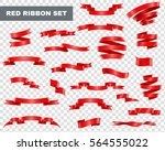 red decorative ribbons... | Shutterstock .eps vector #564555022