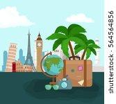 travel concept illustration ... | Shutterstock . vector #564564856