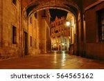 spain. valencia. night... | Shutterstock . vector #564565162