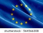 Fabric Texture Of The Flag Of Eu