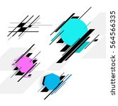 set of colorful vector banners. | Shutterstock .eps vector #564566335