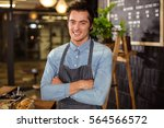 portrait of a barista with arms ...   Shutterstock . vector #564566572