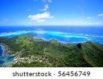 bora bora   aerial view   Shutterstock . vector #56456749