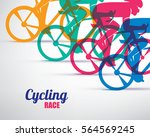 cycling race stylized... | Shutterstock .eps vector #564569245