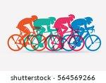 cycling race stylized...   Shutterstock .eps vector #564569266