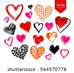 vector hand drawn collection of ... | Shutterstock .eps vector #564570778