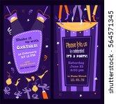 vertical party flyers in mid... | Shutterstock .eps vector #564571345