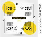 yellow linear infographics... | Shutterstock .eps vector #564577246