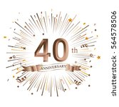 40th anniversary greeting card... | Shutterstock .eps vector #564578506