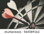 vintage tone  bullseye is a... | Shutterstock . vector #564589162