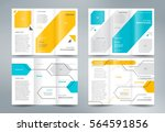 business brochure set design... | Shutterstock .eps vector #564591856