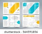 business brochure set design... | Shutterstock .eps vector #564591856