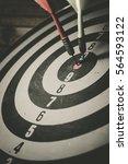 bulls eye is a target of... | Shutterstock . vector #564593122