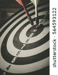 vintage tone  bullseye is a... | Shutterstock . vector #564593122
