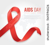 aids awareness ribbon... | Shutterstock .eps vector #564596626