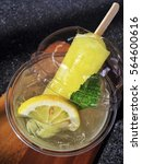 ice cream and lemon soda drink... | Shutterstock . vector #564600616