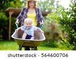 adorable toddler boy having fun ...   Shutterstock . vector #564600706