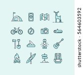 set of icons and symbols for... | Shutterstock .eps vector #564603592