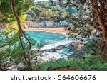 spain. the coastline of costa... | Shutterstock . vector #564606676