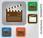 film production icon vector... | Shutterstock .eps vector #564606955