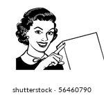 showcard lady   retro clip art | Shutterstock .eps vector #56460790