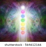 the seven chakra vortexes in a... | Shutterstock . vector #564612166