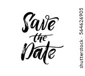 Save The Date Text Calligraphy...