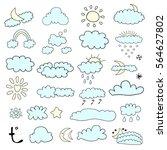 weather symbols   Shutterstock .eps vector #564627802