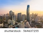 bangkok cityscape  view from... | Shutterstock . vector #564637255