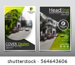 green circle flyer cover... | Shutterstock .eps vector #564643606