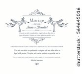 vintage wedding invitation with ... | Shutterstock .eps vector #564645016
