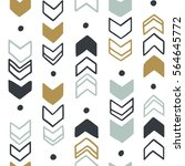seamless hand drawn geometric... | Shutterstock .eps vector #564645772