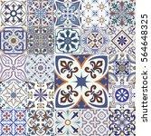 big set of tiles background.... | Shutterstock . vector #564648325