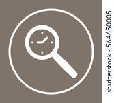 clock  icon  vector. flat... | Shutterstock .eps vector #564650005