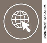website  icon vector. flat... | Shutterstock .eps vector #564651625