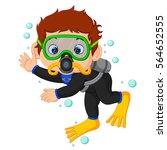 Vector Illustration Of Diver...