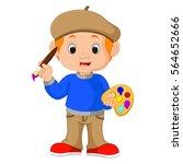 vector illustration of cartoon...   Shutterstock .eps vector #564652666