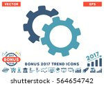 cyan and blue gears pictograph... | Shutterstock .eps vector #564654742