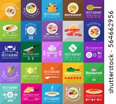 food icons set isolated on... | Shutterstock .eps vector #564662956
