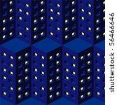 pattern city - stock vector