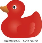 rubber duck red