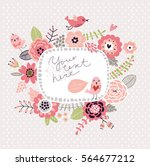 floral background  frame for... | Shutterstock .eps vector #564677212