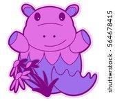 hippo baby | Shutterstock .eps vector #564678415