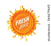 juice splash vector sign | Shutterstock .eps vector #564679645