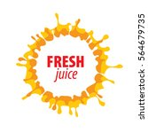 juice splash vector sign | Shutterstock .eps vector #564679735