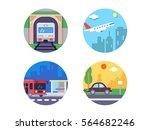 transport icons set | Shutterstock .eps vector #564682246