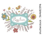 elegant spring card with a... | Shutterstock .eps vector #564682396