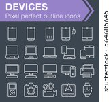 set of thin line devices icons...